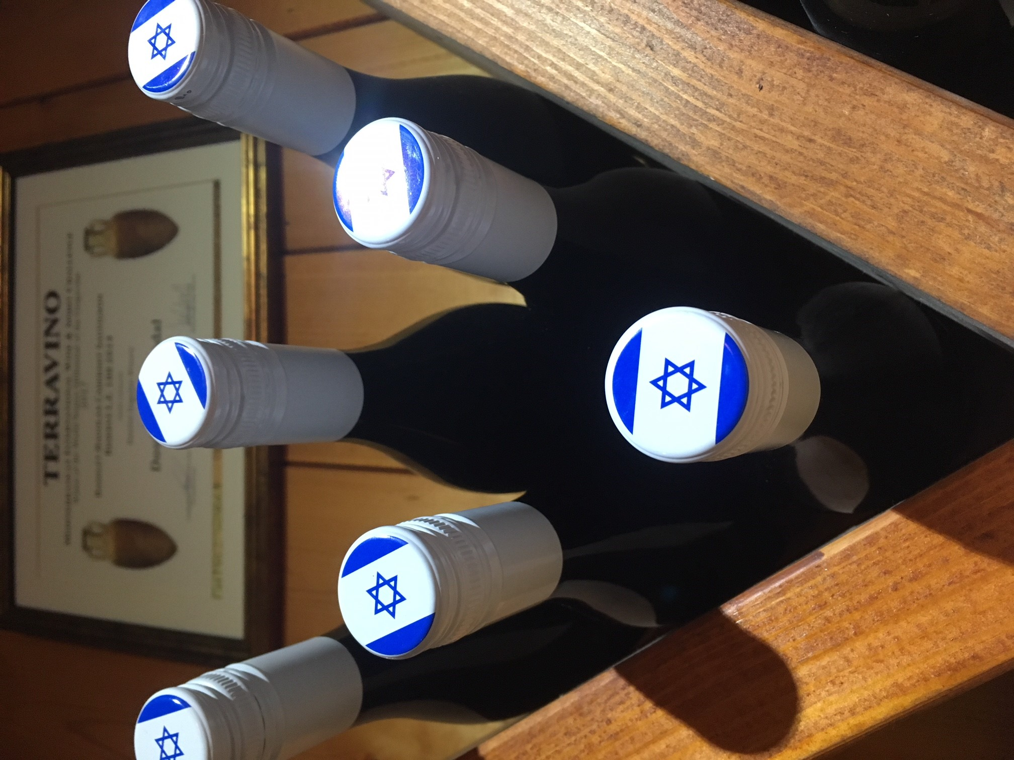 Wine bottles with Star of David MyIsraelWineTours