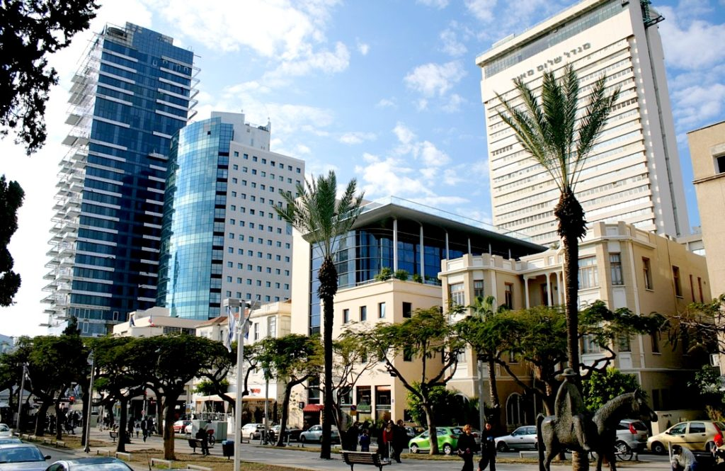 Rothschild boulevard in winter - Tel Aviv