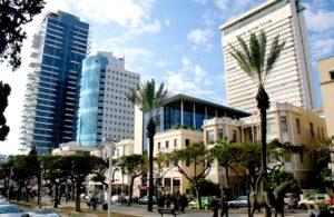 Rothschild boulevard in winter - Tel Aviv