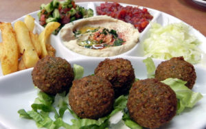 Falafal lunch My Israel Wine Tours