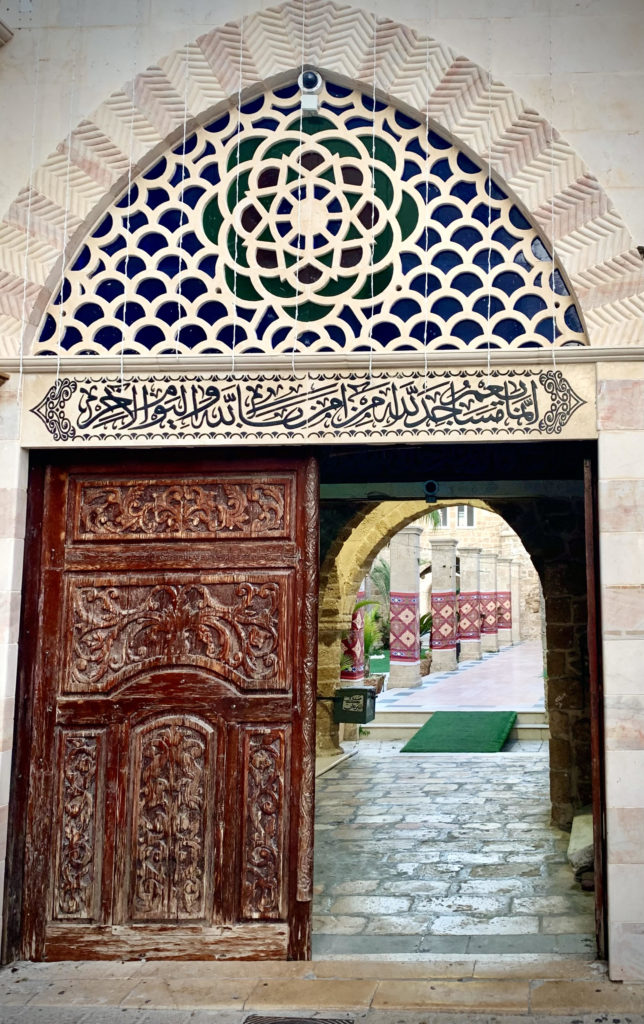 Jaffa mosque entrance: walking wine tour with My Israel Wine tours